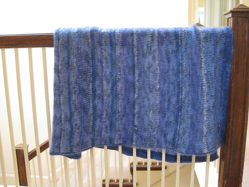Blue Cloud Baby Blanket