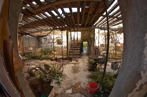 Edificio abandonado en la calle de la Merced (interior)