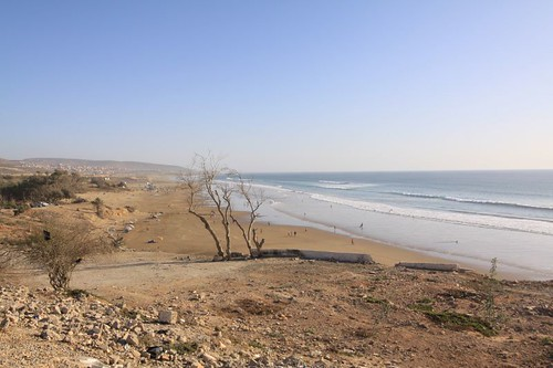 Atlantic beach north of Agadir...