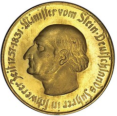 Westphalia Notgeld Bronze Goldplate