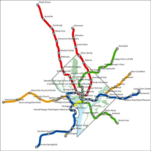A Subway Map Is A Good Example Of A.Dc Mythbusting Metro Map To Scale We Love Dc