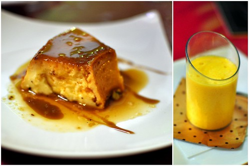 FLAN & MANGO MOUSSE COLLAGE