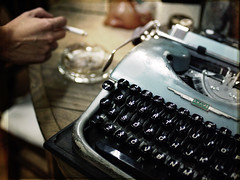 The Writer (Sator Arepo) Tags: leica typewriter writing vintage keyboard key 14 houston olympus novel marlowe bogart carver chandler hemingway summilux bacall 25mm spade e330 uro hammet bigsleep dospassos blacknovel