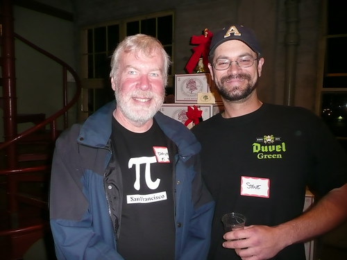 Dave Suurballe, from the Pi Bar, with Steve Bruce, from the Toronado