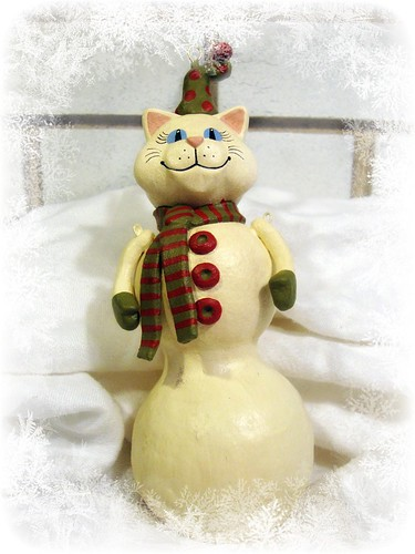 Carrie Murtha of SnipPets Christmas SnowCat Ornie