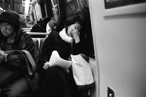Woman on Metro
