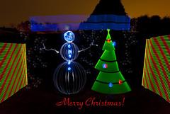 Have a Light Painted Merry Christmas Everyone! (TxPilot) Tags: christmas light snow lightpainting cold tree painting snowman stencil nikon paint orb led lap ornaments merry d200 cathode lightart arduino lightpaint lightstrip lightartphotography arduinomega hl1606 programmablelightstrip rgbledaddressable digitallightwand
