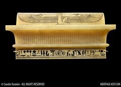 The Lid of Tutankhamun's Canopic Chest (Sandro Vannini) Tags: art photography egypt viscera tutankhamun mummification alabaster beliefs egyptians egyptianmuseum cairomuseum kv62 canopicjars heritagekey sandrovannini canopicchest humanheadedstoppers