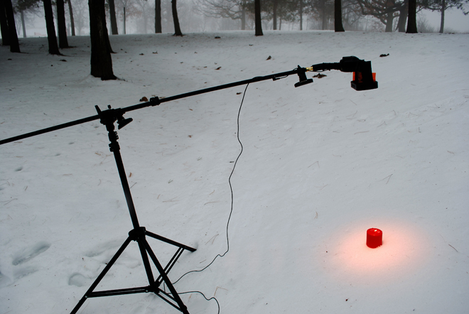 'Shine a light' setup shot