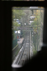 Down the Line (Fred_T) Tags: italy train canon rebel europe track genoa funicular xti funicolarezeccarighi