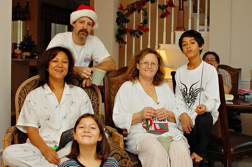 Some of the family at Christmas.