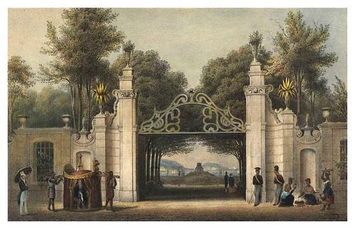 022-Entrada a un paseo publico en Rio de Janeiro-Saudades do Rio de Janeiro- Wilhelm Karl Theremin 1835