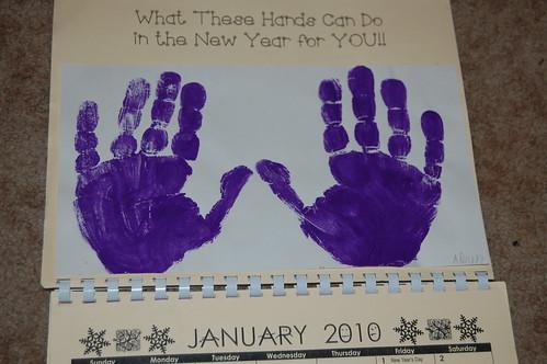 Adam's calendar gift - January
