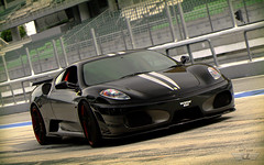 Dark Force (anType) Tags: red italy black sports car italian asia f1 ferrari exotic malaysia modified kualalumpur raya trim rims tuning circuit luxury coupe nero supercar v8 sepang sportscar modded spoiler f430 430 tuned bodykit silverstripes novitecrosso iktikadraya iktikad
