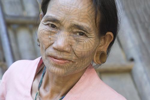 Tribal Chin Tattoos