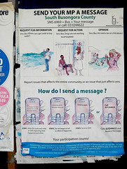Send Your MP a Message (cowyeow) Tags: poverty africa travel strange sign mobile rural poster weird democracy funny message phone action african poor bad cellphone wrong badsign drugs mobilephone send government nurse uganda information sms funnysign messaging representative childabuse funnyenglish funnyafrica kilembe kilembevalley