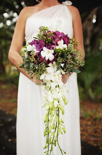 cascading wedding bouquet 4
