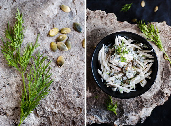 Daikon Pumkin Seed Salad