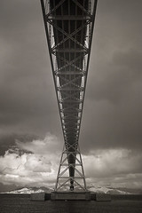 Astoria Megler Bridge (Robert_Brown [bracketed]) Tags: life county bridge bw brown white black robert water clouds oregon canon river ir steel columbia 10d pixel infrared astoria converted megler clatsop lifepixel astoriamegler