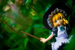 Marisa Hiding in the Forest (SirNarwhal) Tags: flowers game anime cute grass leaves japan toy outside toys spring marisa witchhat witch adorable figure videogame collectible broom pvc japanesetoy kotobukiya touhou animefigure japanesefigure pvcfigure touhouproject japanesecollectible animecollectible marisakirasame