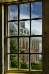 The view of Uppark House from the stable window, England, UK. (Beardy Vulcan) Tags: england window sussex spring may frame mansion statelyhome nationaltrust stable southdowns petersfield uppark 2011 southharting