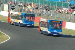 Stagecoach Dennis Darts 34824.KX06LNU & 35218.KX56JYY -  Silverstone (dwb transport photos) Tags: bus dennis dart stagecoach 35218 34824 kx56jyy kx06lnu