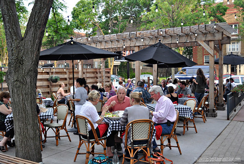 Patio at Salut Bar Americain ~ St Paul, MN
