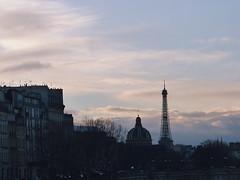 Dusk (afadingsummer) Tags: sunset sky paris france architecture clouds twilight dusk eiffeltower eiffel