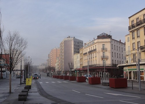 Avenue de l'Union Sovietique Front of the Railwaystation of Clermont Ferrand
