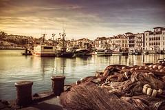A walk along the port (RoCafe on/off) Tags: sanjuandeluz basquecountry port harbor sea fishingnets boats town village nikkor2470f28 nikond600 france