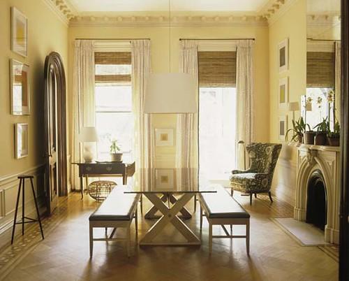 Classic architectural details + modern twist: Dining room by Tom Scheerer