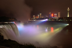 Niagara at Night (antichron) Tags: newyork canada color water night lights waterfall niagara falls upstatenewyork coloredlights