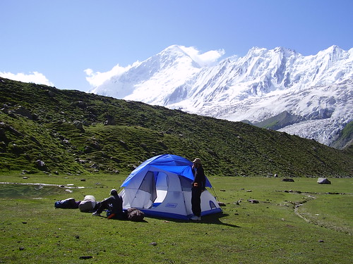 Camping at Rakaposhi base camp