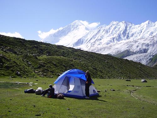 Camping at Rakaposhi base camp