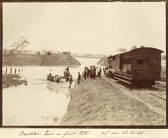 Burdekin River in flood, 1875