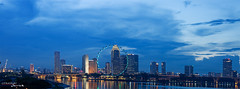 Singapore skyline (jerrickasinas) Tags: singapore nightshot marinabarrage singaporeflyer