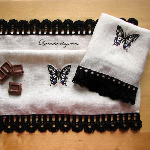 crocheted towels