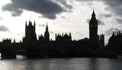 london - houses of parliament in silhouette (Martyn.Smith.) Tags: city urban blackandwhite bw london history westminster thames skyline mono cityscape silhouettes housesofparliament parliament bigben silhouete government riverthames westminsterbridge buidings capitalcities londonsilhouette bigbeninsilhouette