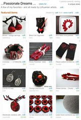 Treasury! (<vaida>) Tags: red black art felted grey handmade ooak treasury decoration bowl passion etsy lithuanian vart