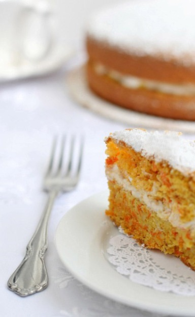Light Almond Carrot Cake