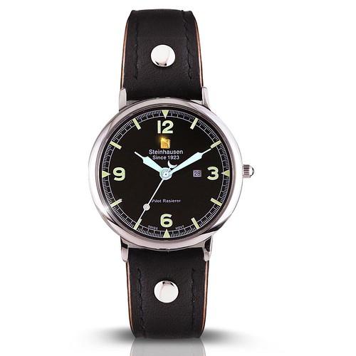 Dunn Horitzon Pilot Rasierer Watch (TW497)-Black