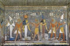 Horemheb's Tomb Wall - Interior View (Sandro Vannini) Tags: archaeology photography ancient tomb egypt artists egyptian pharaoh walls discovery sandro antiquity vannini 19thdynasty amduat bookofgates horemheb heritagekey heritagesite1214 kv57