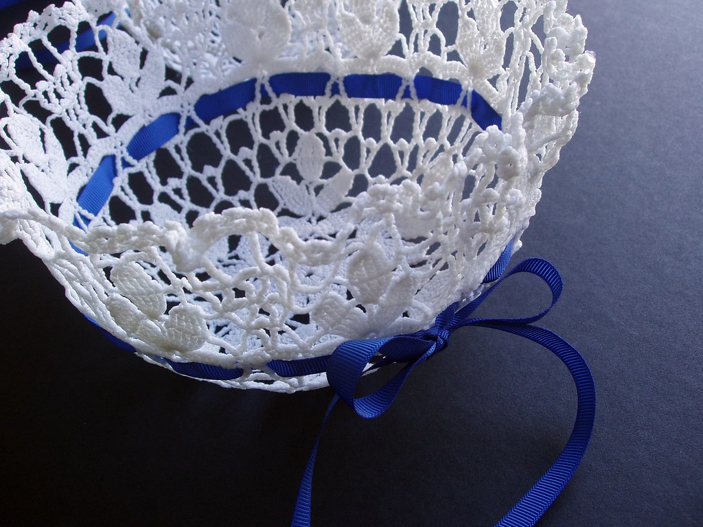 Snowflake Doily Flower Girl Basket