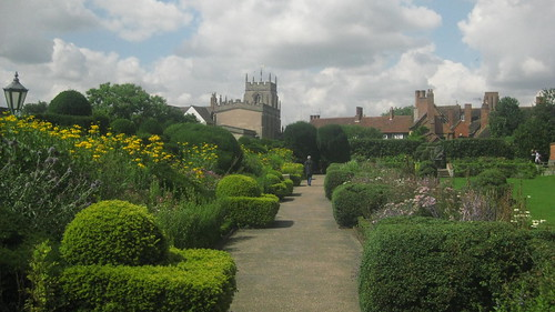 The gardens, with Guild Chapel in the background.