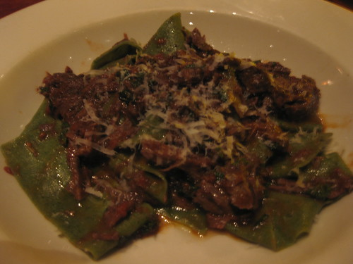 Incanto in San Francisco - Mint Pappardella pasta with beef