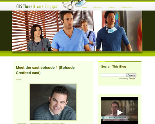 CBS Three River Blogspot Template Preview
