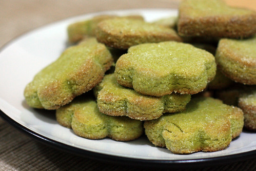 matcha green tea shortbread cookies