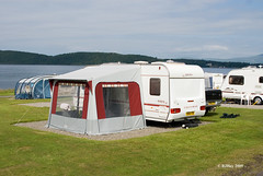Caravan park near Benderloch, Scotland
