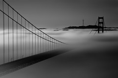 Forever... It Will Stay. (maxxsmart) Tags: sanfrancisco bridge blackandwhite bw favorite fog sunrise canon floating goldengatebridge marincounty marinheadlands batteryspencer sutrotower crazybeautiful 10stop 247f28l 5dmarkii forrrrrrrreeeeeeeevvvvvvvvvverrrrrrrrrrr