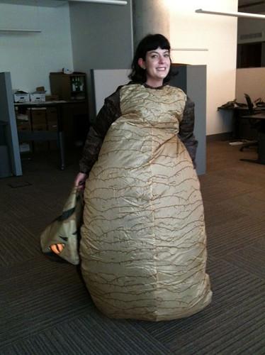 My Jabba the Hutt Costume Test Run - Grrl Still Kickin' Jabba The Hutt Costume
